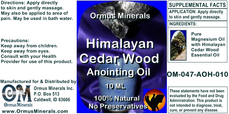 Ormus Minerals Himalayan Cedar Wood for Pain Relief