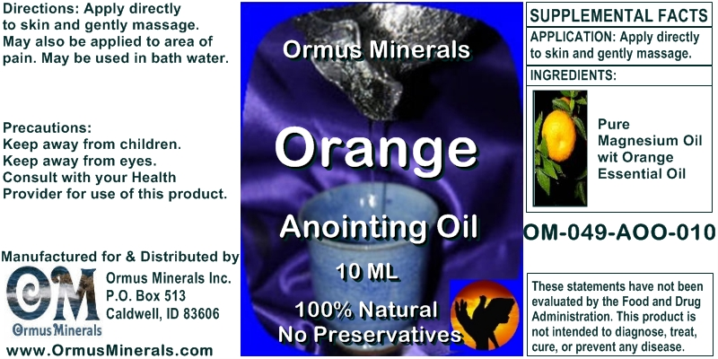 Ormus Minerals Orange Anointing Oil for Pain Relief