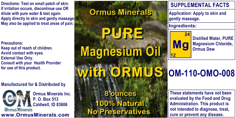 Ormus Minerals Pure Magnesium Oil with Ormus for Pain Relief