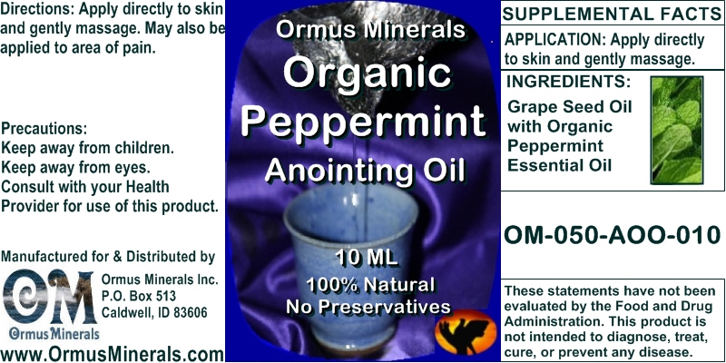 Ormus Minerals Organic Peppermint Anointing Oil