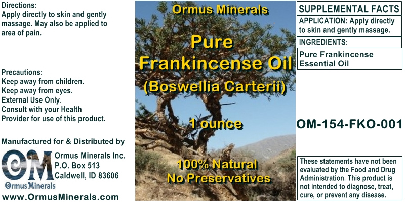 Ormus Minerals Pure Frankincense Essential Oil
