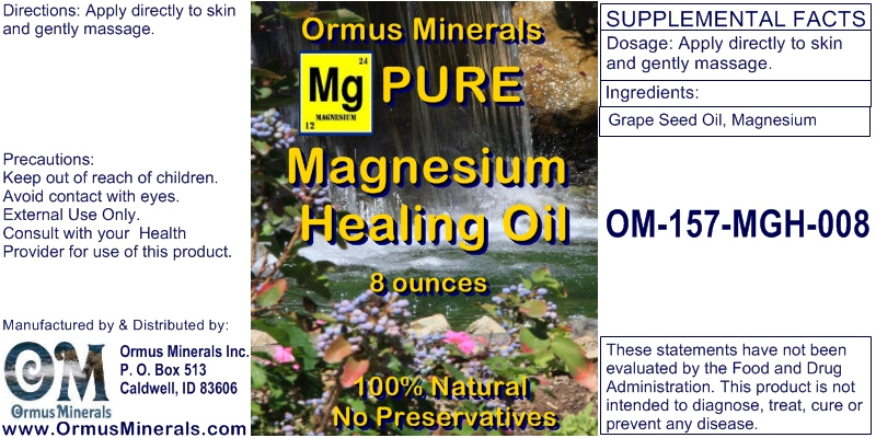 Ormus Minerals PURE Magnesium Oil for Pain